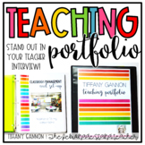 EDITABLE Teacher Portfolio: Rock Your Teacher Interview!!!