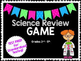 EDITABLE TEST-PREP 4th Grade Science Jeopardy Review Game