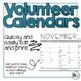 EDITABLE Volunteer Calendars