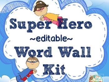 EDITABLE WORD WALL KIT & STUDENT WRITING BOOKLET {Super He