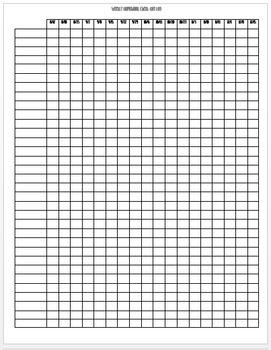 EDITABLE Weekly Homework Check-Off Log