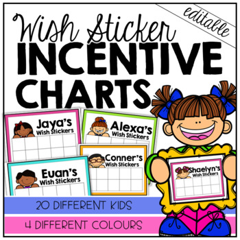 EDITABLE Wish Sticker Incentive Charts