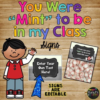 """{EDITABLE} You Were """"MINT"""" to be in my Class, First Day of School"""
