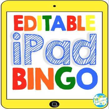 Editable iPad BINGO Templates