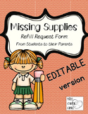 EDITABLE School Supply Refill and Replacement Note