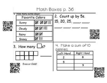 EDM Unit 3 Math Box with QR