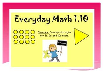 EDM4 (Everyday Math 4) Grade 3 Lesson 1.10 Smart Notebook