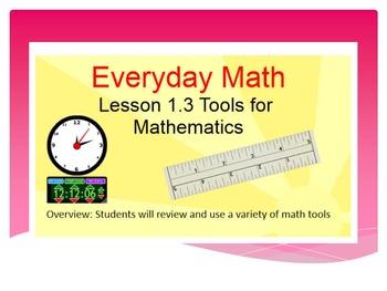 EDM4 (Everyday Math 4) Grade 3 Lesson 1.3 Smart Notebook P