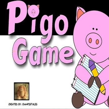 PIG BINGO GAME BOARDS to REVIEW ANY SUBJECT or SKILL