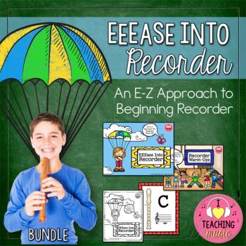 EEEase Into Recorder BUNDLE - Recorder Program Starting on E