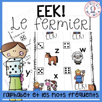 EEK - Le fermier! Un jeu qui travaille les noms des lettre