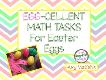 EGG-cellent Math Task Cards - to put in eggs!!!!! For prim