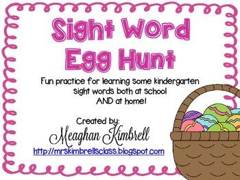 EGGciting Easter Egg Sight Word Hunt