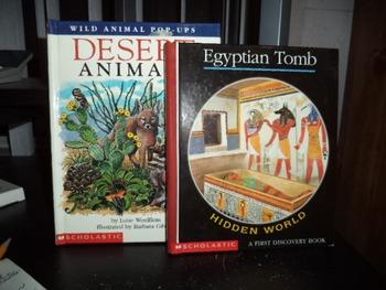 EGYPTIAN TOMB       DESERT ANIMALS          (SET OF 2)