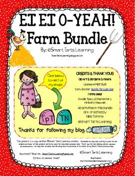 EI EI O-YEAH! Farm Bundle. 97 Pages of Farm Themed Activities