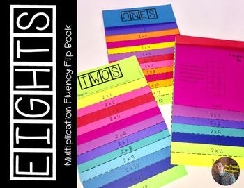 EIGHTS Multiplication Fact Fluency Flip Book: Grades 3-5