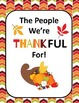 ELA 4-8: The People We're Thankful For, Thanksgiving Writi