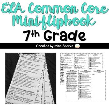 ELA 7th  Grade Common Core State Standards Mini-Flipbook