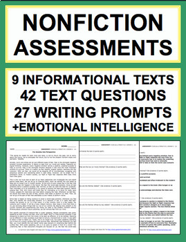 ELA Assessment and Test Review Common Core Grades 6-7-8