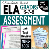 ELA Assessment - Final Exam with Test Review MINI-BOOK - G