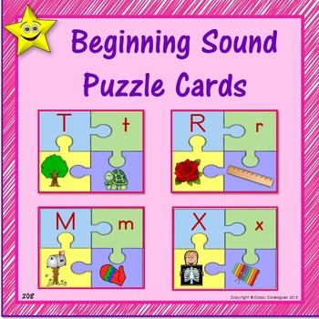 Beginning Consonant Sound Puzzle Cards