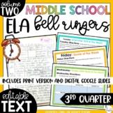 ELA Bell Ringers 8th Grade {3rd Quarter} Middle School Bel