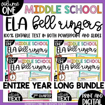 ELA Bell Ringers for 7th Grade {Entire Year Bundle}