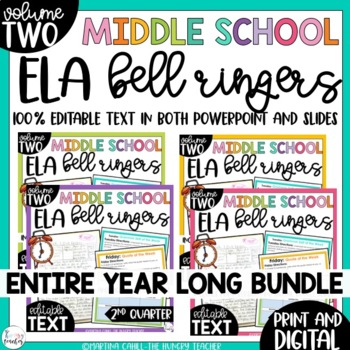 ELA Bell Ringers for 8th Grade {Entire Year Bundle}