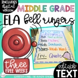 ELA Bell Ringers for Middle School and Upper Elementary {3