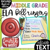 ELA Bell Ringers for Middle School and Upper Elementary (4