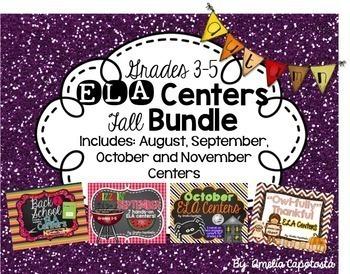 ELA Centers FALL {MEGA BUNDLE}