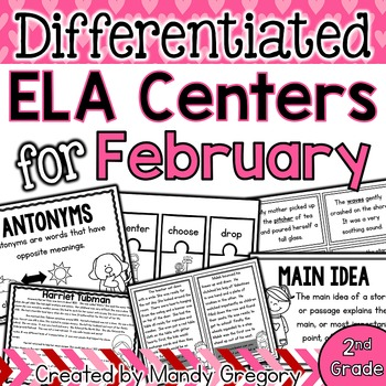ELA Centers with Differentiation, Student Rubrics, and Men