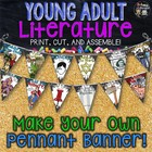 ELA Classroom Decor Young Adult Literature: Make Your Own Pennant Banner