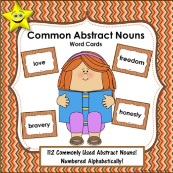 Abstract Nouns Word Cards