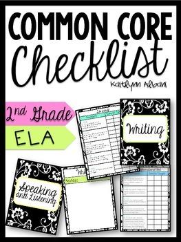 ELA Common Core Checklist Binder - 2nd Grade
