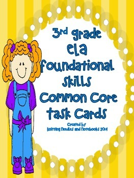 ELA Common Core Foundational Skills task cards: Review for