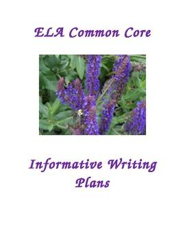 ELA Common Core Informative/Explanatory Writing Lessons Gr