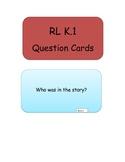 ELA Common Core Question Cards for Kindergarten