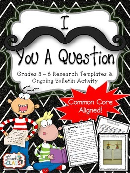 Common Core Research Writing Template - with bulletin idea