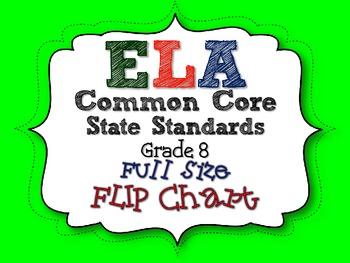 ELA COMMON CORE STANDARDS: GRADE 8 FULL SIZE BINDER FLIP CHARTS