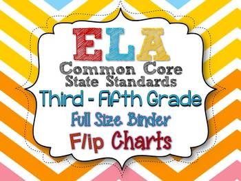 ELA COMMON CORE STANDARDS: GRADES 3-5 FULL SIZE BINDER FLI