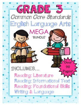 ELA Common Core Third Grade MEGA Pack