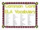 ELA Common Core Vocabulary Cards