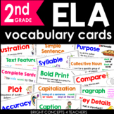 ELA Common Core Vocabulary Cards-Second Grade