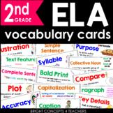 ELA Common Core Vocabulary Cards-Second Grade