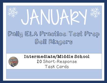 ELA Common Core Winter/January Task Cards for Upper Elemen