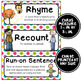 ELA Word Wall Vocabulary Cards - 4th Grade - Rainbow Colors