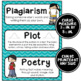 ELA Word Wall Vocabulary Cards - 6th Grade - Chevron