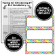 ELA Word Wall Vocabulary Cards - 6th Grade - Rainbow