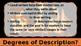 ELA DESCRIPTIVE WRITING: Adding Description: Degrees of De